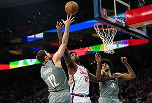 【戰報】2月21日NBA常規賽籃網-76人 籃網104-112 76人取得三連勝