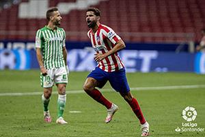 19/20西甲第36輪馬德裏競技1:0皇家貝蒂斯 迭戈科斯塔打進全場唯一進球