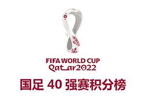 2022卡塔爾世界杯亞洲區預選賽40強賽積分榜