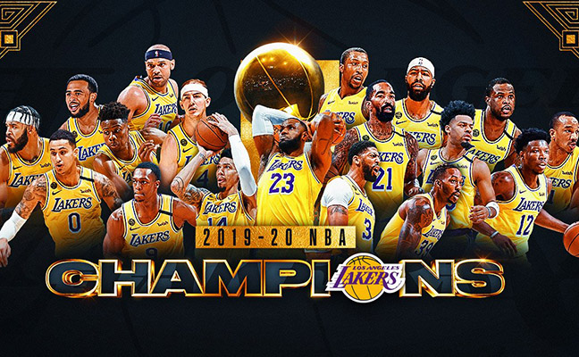 洛杉磯湖人加冕NBA總冠軍