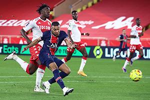 法甲第12轮巴黎圣日耳曼vs波尔多